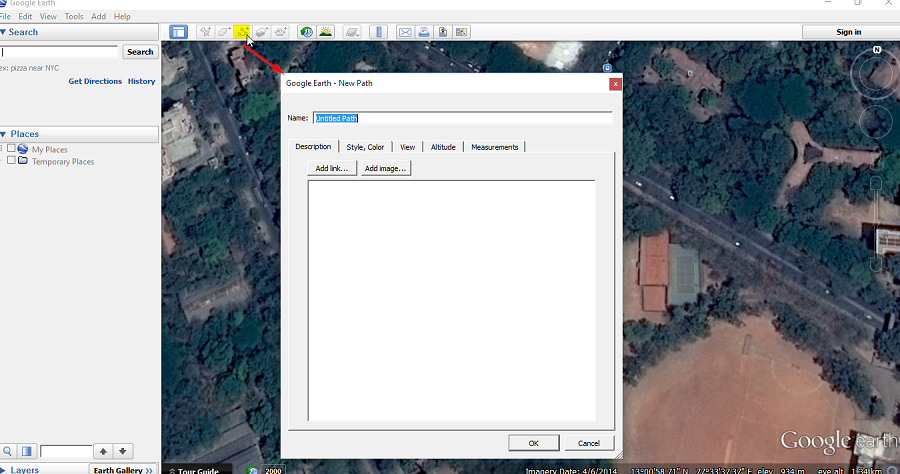 Drawing Lines With Google Earth : Help how to create kml file in google earth