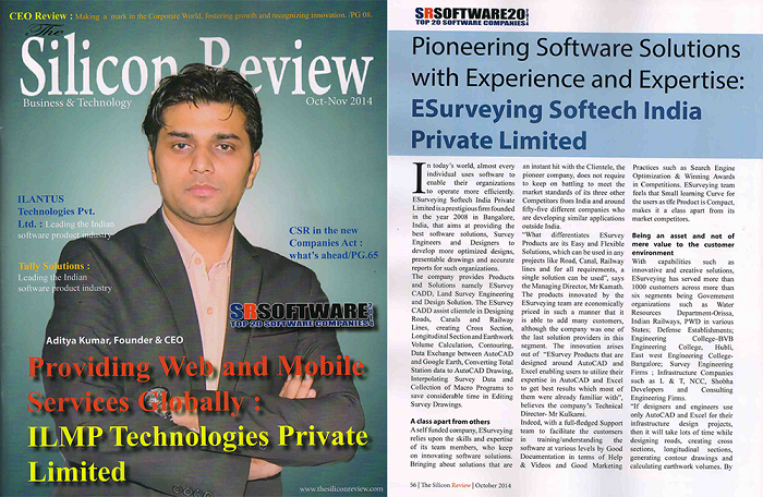 Land Survey Engineering  Article  Silicon Review Oct 2014